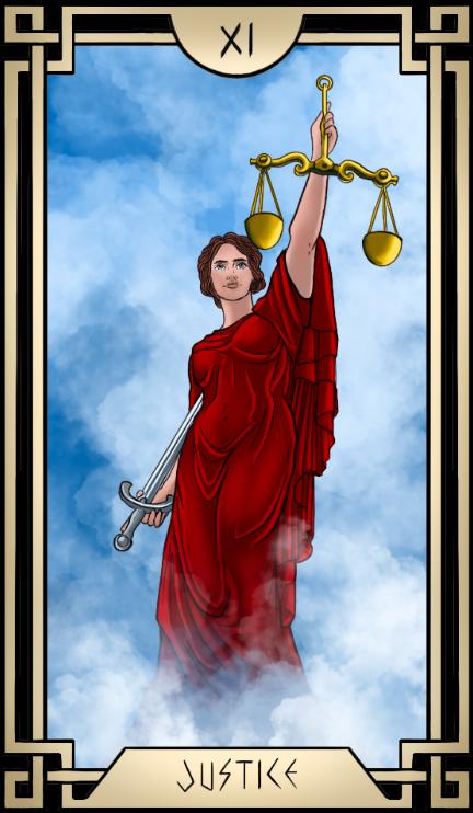 Stoic Tarot Justice Tarot Card