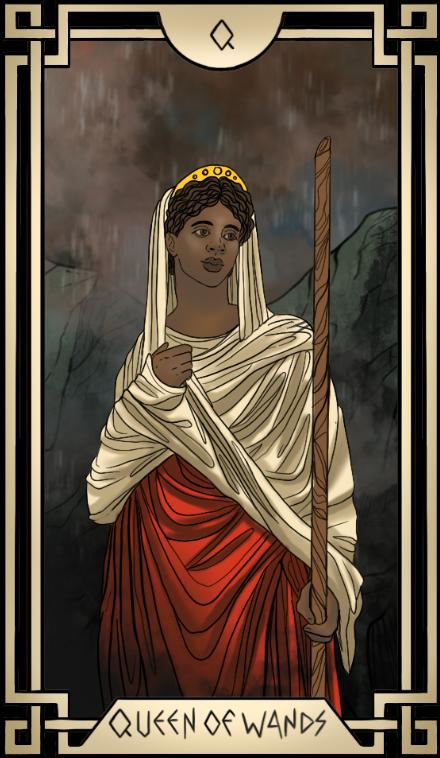 Stoic Tarot Queen of Wands Tarot Card