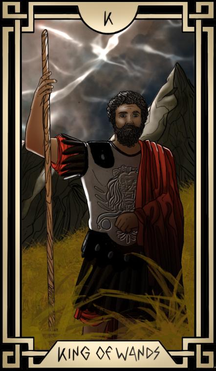 Stoic Tarot King of Wands Tarot Card
