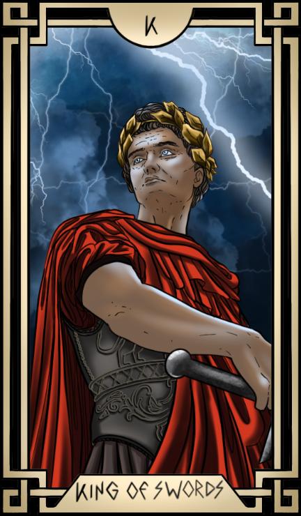 Stoic Tarot King of Swords Tarot Card