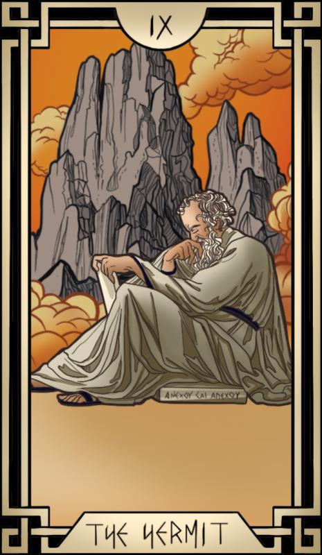 Stoic Tarot The Hermit Tarot Card